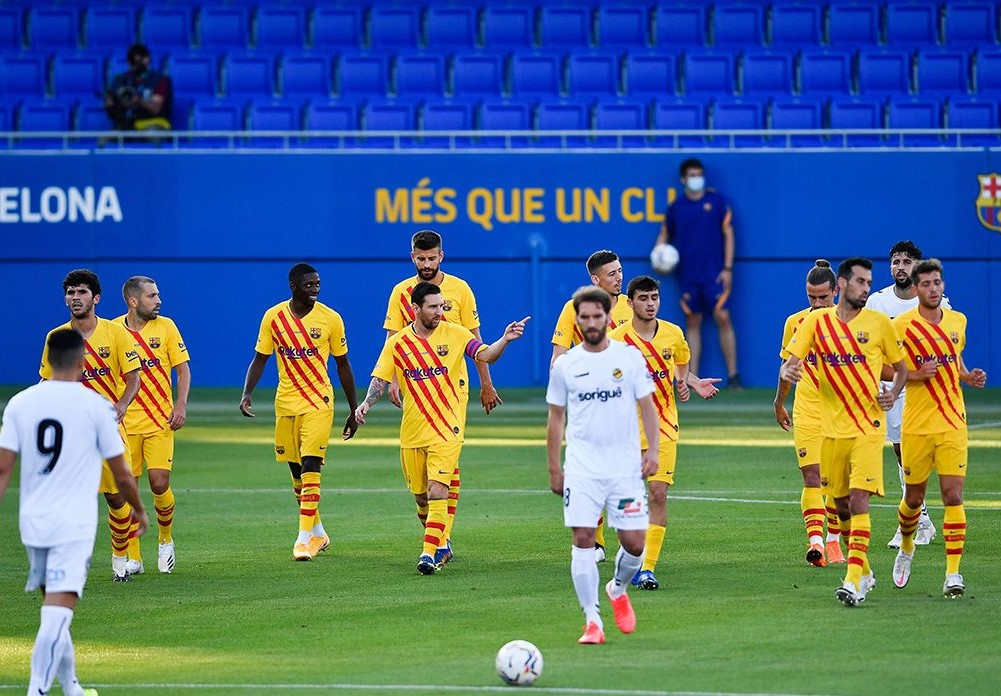 Barcelona Try New Squads In A Friendly Against Gimnastic