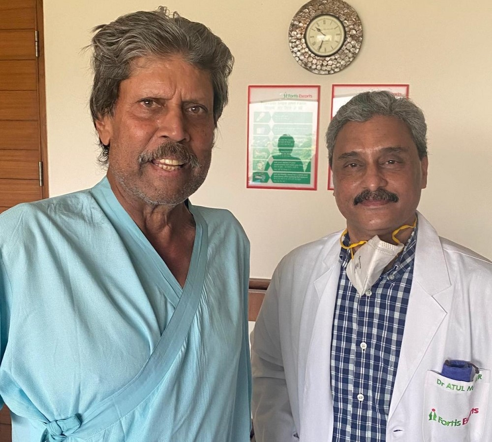 Kapil Dev Discharged From The Hospital After Surgery
