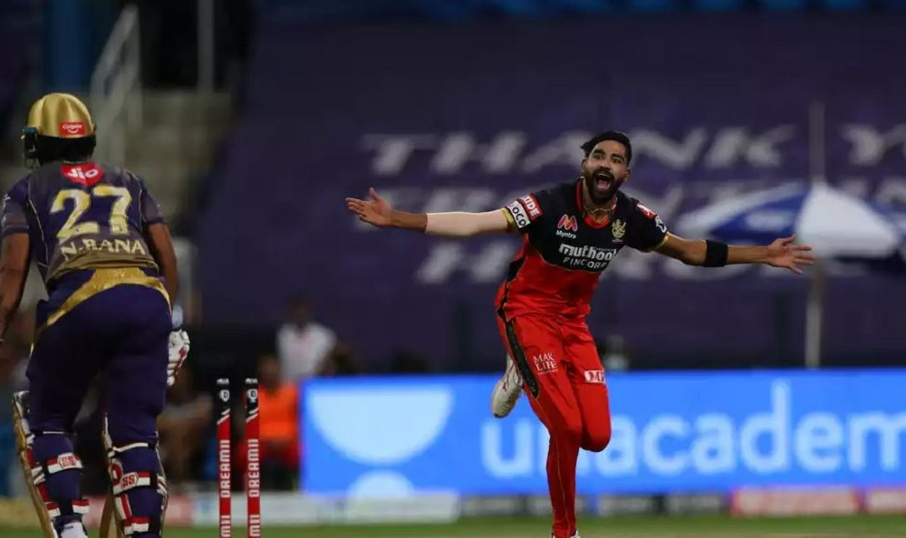 Mohammad Siraj Humiliates Kolkata Knight Riders To Guide Royal Challengers Bangalore To Win