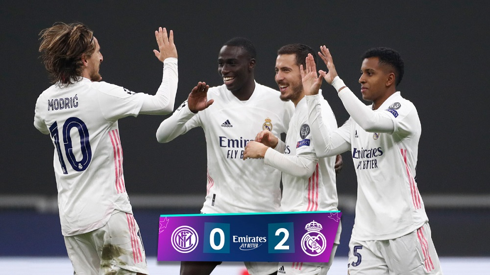 Real Madrid Defeat 10-Man Inter Milan To Climb Up On Points Table