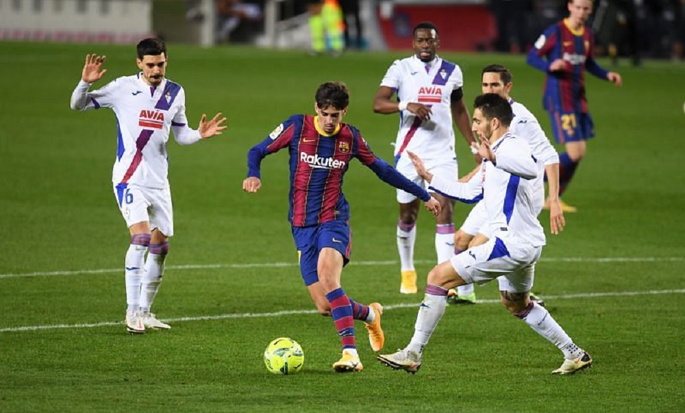 Barcelona Drop 2 Points Against Eibar To Fall Down On Points Table
