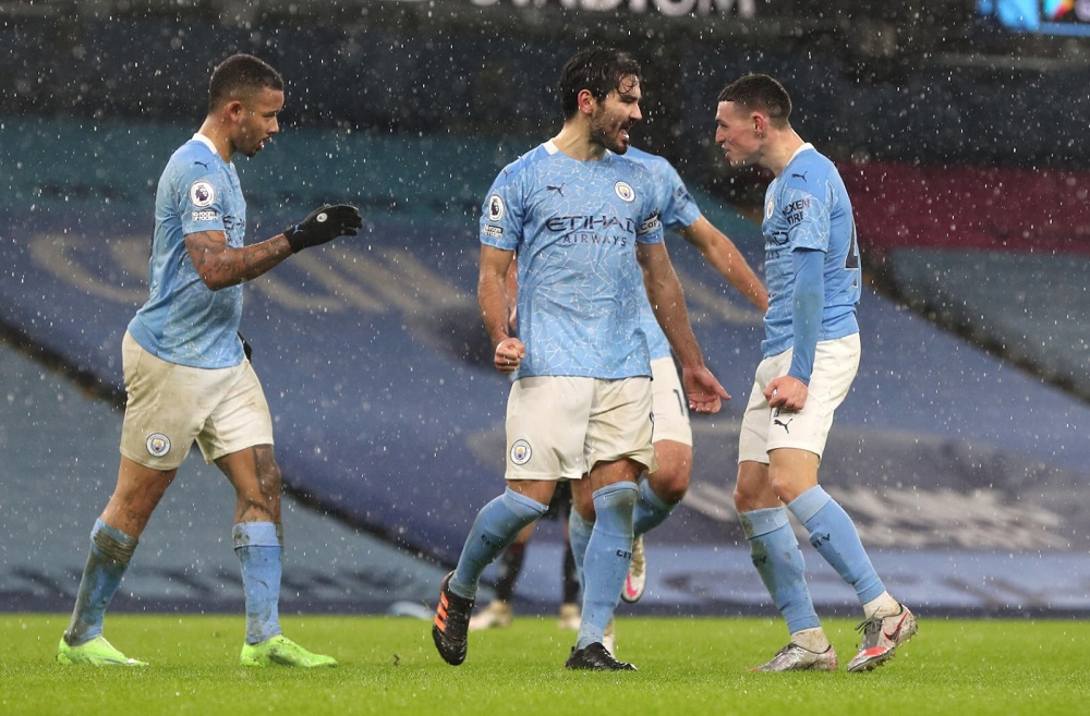 Manchester City Go Top Of The Points Table After Victory Over Aston Villa