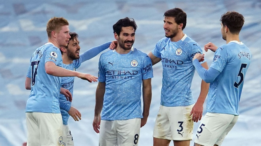 Manchester City Crush Crystal Palace To Climb Up To The 2nd Position On The Premier League Points Table