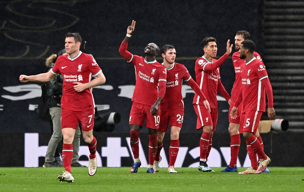 Liverpool Thrash Tottenham To Climb Back To Top 4 On The Premier League Points Table