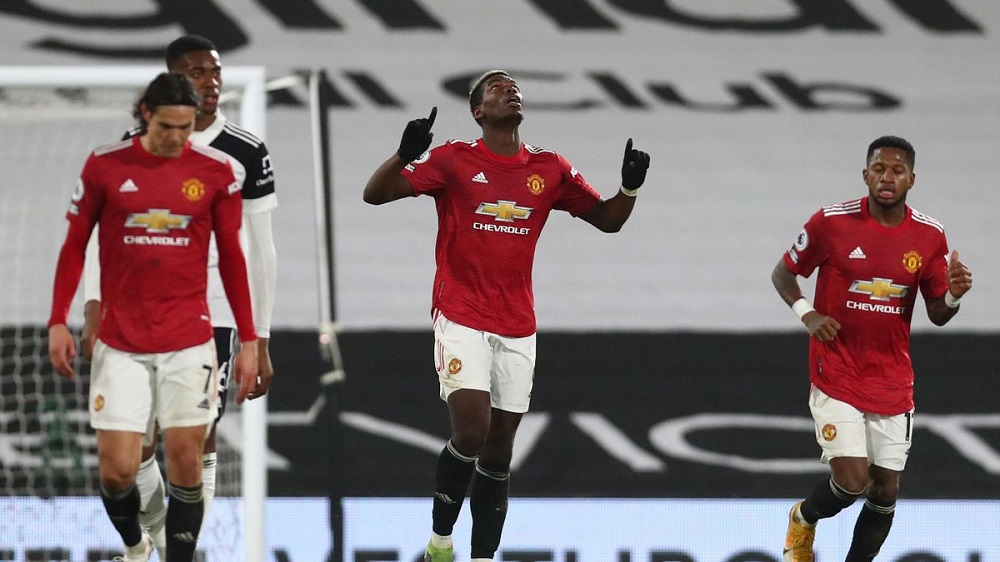 Paul Pogba Fires MUFC To Top Of The Premier League Points Table Once Again