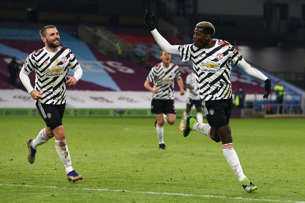 Manchester United Defeat Burnley With Late Goal From Pogba As They Move 3 Points Above Liverpool