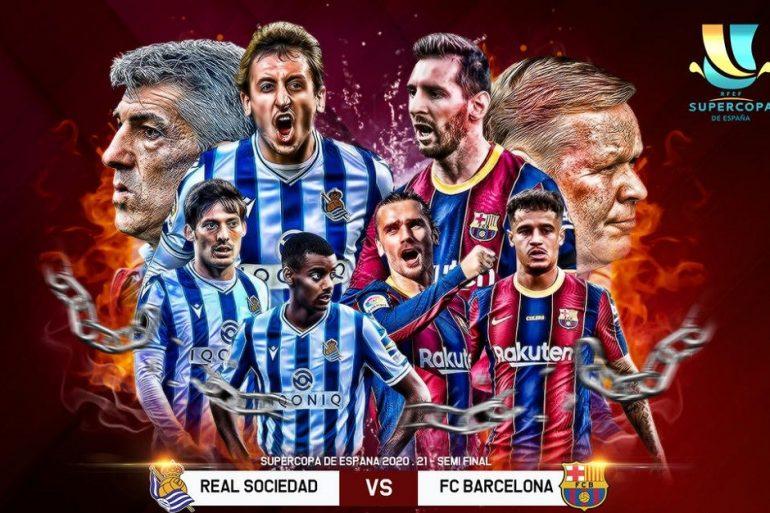 Barcelona vs Real Sociedad: Supercopa de Espana Semi-final Predicted Lineup, Where To Watch?- EXCLUSIVE DETAILS