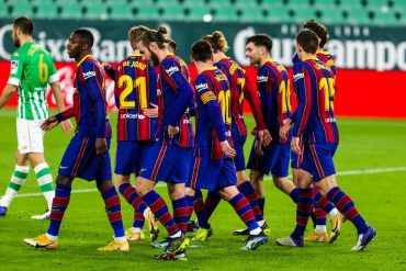 Barcelona Make Yet Another Comeback Against Real Betis To Move Back To 2nd Position In The La Liga Points Table